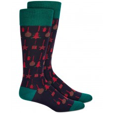 Alfani Men's Ornaments Socks, Black