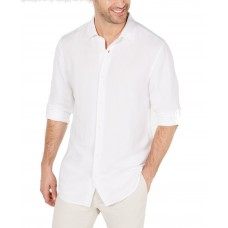 Alfani Men's Platoon Linen Shirt (White, S)