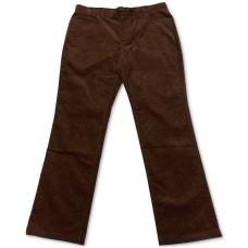 Alfani Men's Regular-Fit Corduory Pants (Dark Brown, 40×30)