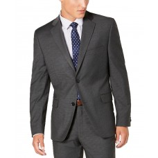 Alfani Men's Slim-Fit Performance Stretch Mini Check Suit Separate Jacket (Gray, 38)