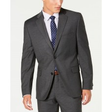 Alfani Men's Slim-Fit Performance Stretch Mini Check Suit Separate Jacket (Gray,44R)