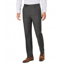Alfani Men's Slim-Fit Performance Stretch Mini Check Suit Separate Pants, Gray, 30×30