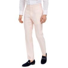Alfani Men's Slim-Fit Stretch Pink Solid Tuxedo Pants (Pink)