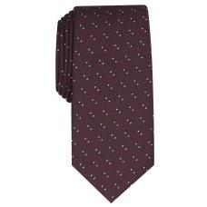 Alfani Men's Slim Geometric Tie (Burgundy)