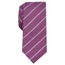 Alfani Men's Slim Stripe Tie (Magenta)
