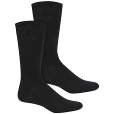 Alfani Men's Solid Ribbed Socks, Black