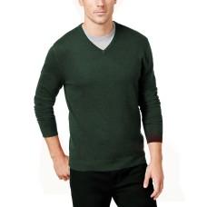 Alfani Men's Solid V-Neck Cotton Sweater