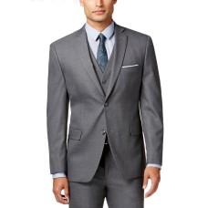 Alfani Men's Stretch Performance Slim-Fit Jacket (Gray, 44T)