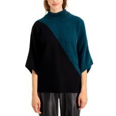 Alfani Mixed-Media Dolman-Sleeve Sweater