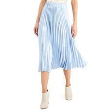Alfani Pleated Midi Skirt (Blue, X-Large)