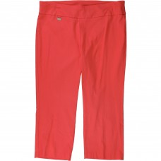 Alfani Plus Size Coral Tummy Control Pull On Stretchy Capri Pants
