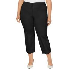 Alfani Plus Size Cuffed Ankle Pants (16W – Black)