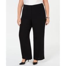 Alfani Plus Size High-Waisted Wide-Leg Pants Black Size 14W