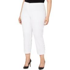 Alfani Plus Size Hollywood-Waist Pants 18W – White