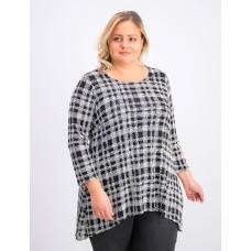 Alfani Plus Size Printed Woven-Back Top
