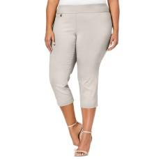 Alfani Plus Size Pull-On Capri Pants 16W Petite – Light Beige