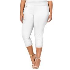 Alfani Plus Size Pull-On Capri Pants 18W Petite – Natural