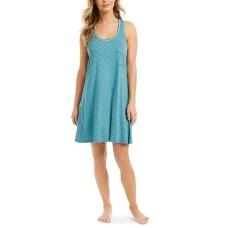 Alfani Plus Size Ultra-Soft Tank Nightgown (Green, 3X)