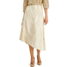 Alfani Printed Asymmetrical Skirt (Beige)