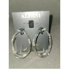 Alfani Silver Tone, RHD Wide Hoop Earrings