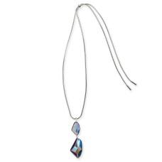 Alfani Silver-Tone Stone Drop Adjustable Pendant Necklace (40)