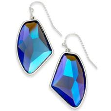 Alfani Silver-Tone Stone Drop Earrings,Blue