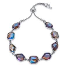 Alfani Stone Bolo Bracelet (Silver)