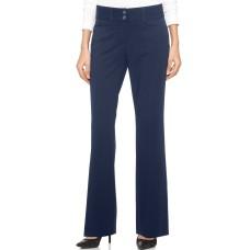 Alfani Women's Curvy-Fit Slimming Bootcut Pants, Regular, Short, & Long Lengths (Navy, 4S)