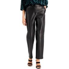 Alfani Women's Faux-Leather Pants (Black, 14)