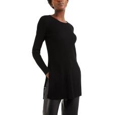 Alfani Womens Ribbed Long Sleeve Tunic Sweater
