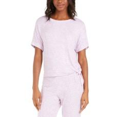 Alfani Women's Side-Tie Pajama T-Shirt (Purple, Small)