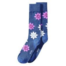 AlfaTech by Alfani Men's Snowflake Socks (Navy)