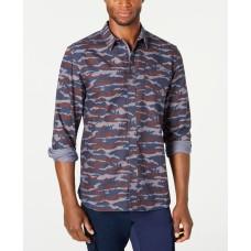 American Rag Men's Camo Grindle Shirt (Navy, 2XL)