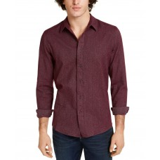 American Rag Men's Matt Regular-Fit Brushed Twill Shirt (Red, 2XL)