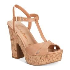 American Rag Womens Jamie Open Toe Casual Platform Sandals ,Medium Brown
