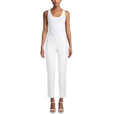 Anne Klein Low-Rise Slim-Ankle Pants (White, 8)