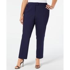 Anne Klein Plus Size Bowie Double-Weave Pants, 18W