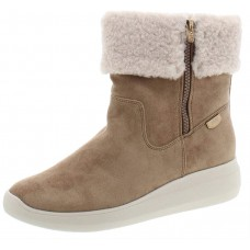 Anne Klein Sport Womens Frizby Faux Fur Cold Weather Booties Beige Size 10 M