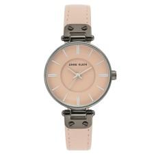Anne Klein Womens Leather Strap Watch, Blush, 34mm