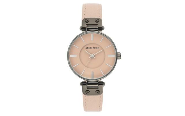 Womens Leather Strap Watch, Blush, 34mm