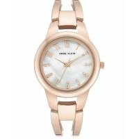 Anne Klein Women's Rose Gold-Tone Bangle Bracelet Watch 33mm Gold