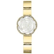 Anne Klein Women's Swarovski Crystal Accented Floral Gold Tone Bracelet Watch