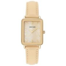 Anne Klein Women's Watch Tan Leather Strap Gold-Tone