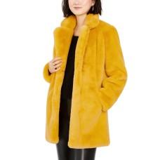 Apparis Womens Eloise Faux Fur Notch Collar Coats