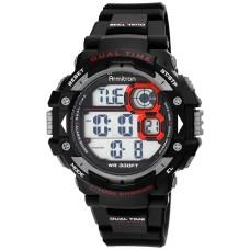 Armitron Men's Digital Chronograph Black Strap Watch 54mm