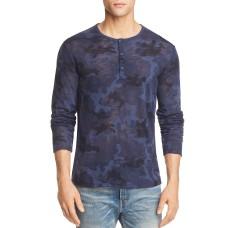 Atm Anthony Thomas Melillo Camouflage Long Sleeve Henley Shirt