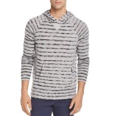 Atm Anthony Thomas Melillo Slub Painted Stripe Pullover Hoodie M