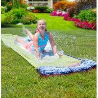 Backyard Double Water Slide Summer Fun Toy, Long Water Slip & Slide Outdoor Water Toys for Kids & Adults, Single Water Slide 16ft