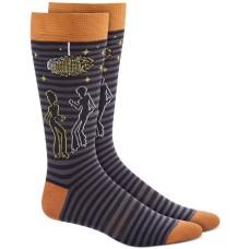 Bar Iii Mens Black Disco Party Socks  (Black, 10-13)
