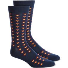 Bar III Men's Black Tiled Heart Socks